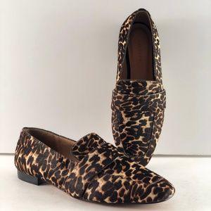 Halogen Leopard Print Genuine Calf Hair Flat